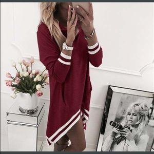 Dresses & Skirts - 🎉HP🎉  BEST DRESSED Asymmetrical cowl neck dress